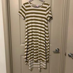 Striped High Low Dress